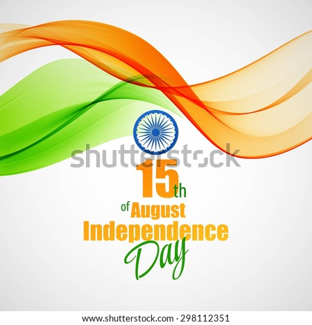 Creative Indian Independence Day concept. Vector illustration EPS 10 - stock vector