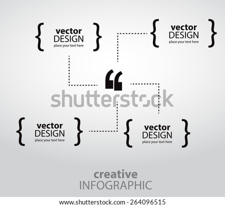 Creative infographics for quotations. Vector art. - stock vector
