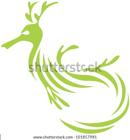 creative leafy and weedy sea dragon illustration