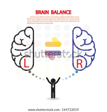 Creative left and right brain Idea concept background design for poster flyer cover brochure ,brain balance business dea ,abstract background.vector illustration  - stock vector