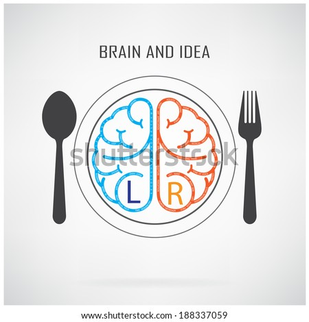Creative left brain and right brain Idea concept background ,business concept.vector illustration contains gradient mesh - stock vector