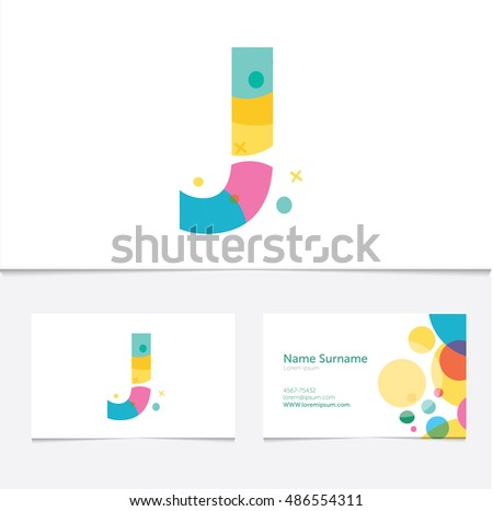 Creative j letter design vector template stock vector 432854977 creative letter j design vector template on the business card template abstract colorful pronofoot35fo Images