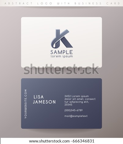 Creative letter k logo design business stock vector 2018 666346831 creative letter k logo design with business card template vector illustration reheart Choice Image