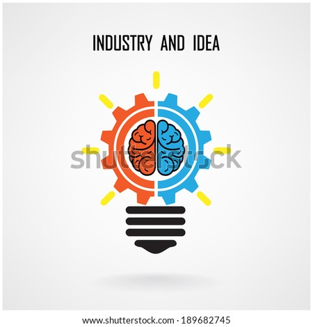 Creative light bulb concept background design for poster flyer cover brochure ,business idea ,abstract background.vector illustration contains gradient mesh - stock vector