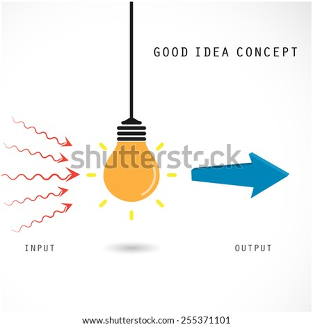 Creative light bulb concept, design for poster, flyer, cover or brochure. Business idea and education concept. Vector illustration - stock vector