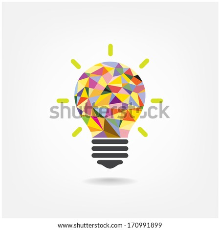 Creative light bulb Idea concept background design for poster flyer cover brochure ,business idea ,abstract background.vector illustration  - stock vector