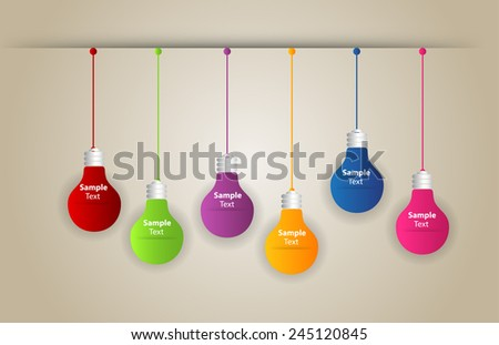 Creative light bulb Idea concept background, design for poster flyer cover brochure ,business idea ,abstract background.vector illustration. time line text box - stock vector