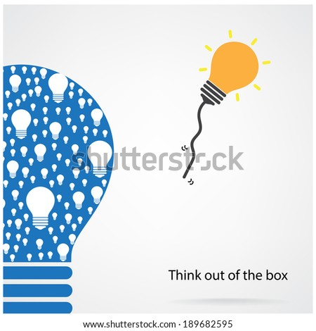 Creative light bulb idea concept background design for poster flyer cover brochure ,think out of the box concept ,abstract background.vector illustration contains gradient mesh - stock vector