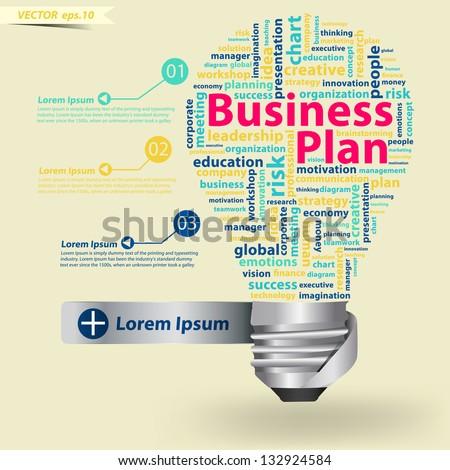 Creative Light Bulb Business Plan Concept Stock Vector 132924584 ...