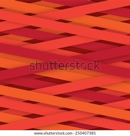 Creative lines red color isolated - stock vector