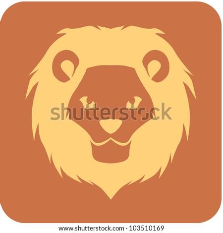 Creative Lion Icon - stock vector