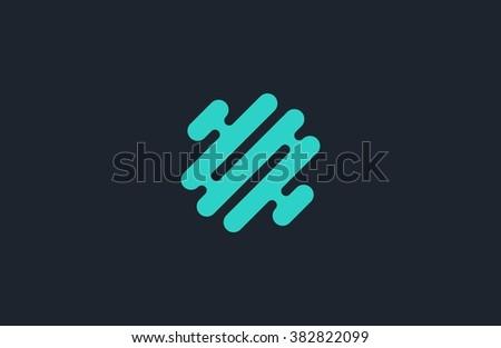 Creative logo. Brain logo. Minimalistic logo design. Abstract logo. - stock vector