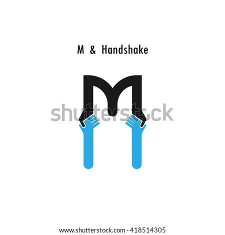 Creative M- letter icon abstract logo design vector template.Business offer,partnership icon.Corporate business and industrial logotype symbol.Vector illustration - stock vector
