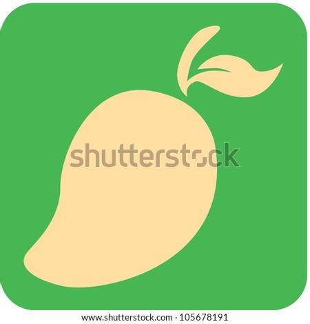 Creative Mango Fruit Icon - stock vector