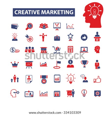 creative marketing icons, signs vector concept set for infographics, mobile, website - stock vector