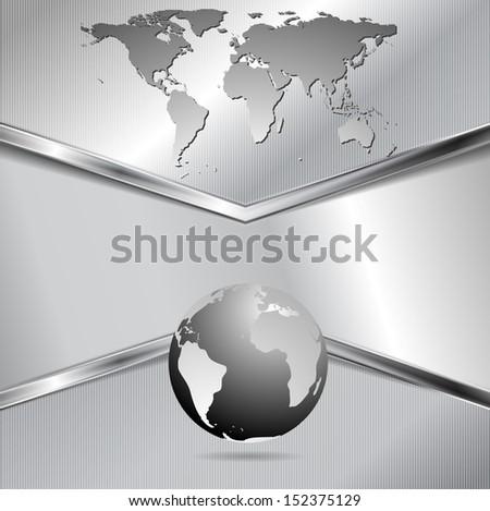 Creative metallic technology background. Vector design eps 10 - stock vector