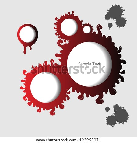 Creative modern abstract red speech bubbles - stock vector