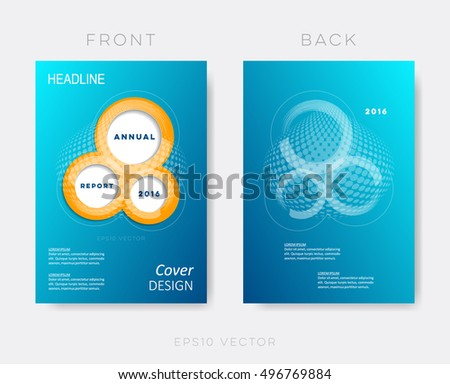 Creative Modern Annual Report Design Template Stock Vector HD - Annual report design templates 2016