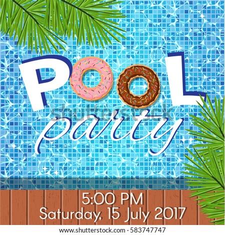 Creative Modern Flat Design Invitation Pool Vector 583747747 – Creative Pool Party Invitations