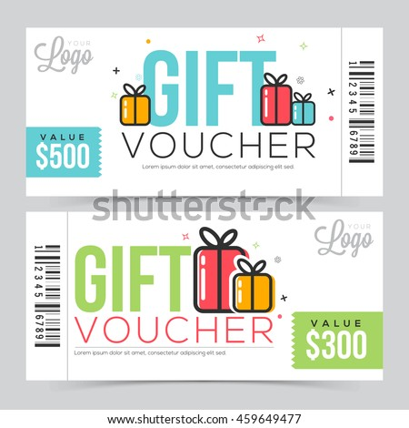Creative modern gift voucher coupon certificate creative modern gift voucher coupon or certificate design with free space vector illustration negle Choice Image