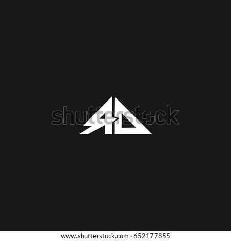 Creative modern stylish luxurious attractive triangular geometric black and  white color RD DR R D initial based. Rd Stock Images  Royalty Free Images   Vectors   Shutterstock