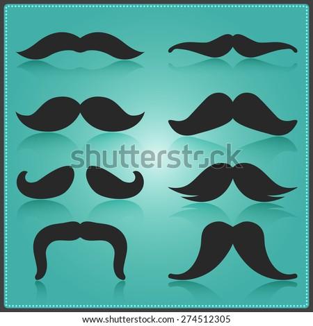 Creative Moustache Vector Design. Vector Elements. Minimal Isolated Movember Illustration. EPS10 - stock vector