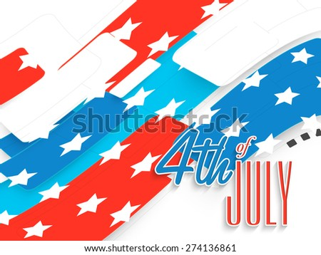 Creative national flag color abstract design for 4th of July, American Independence Day celebration. - stock vector