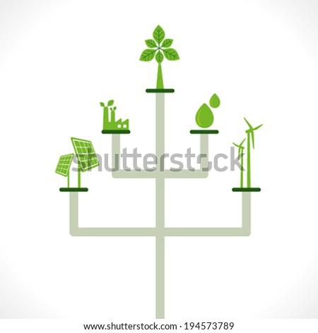 creative natural energy resource icon concept vector - stock vector