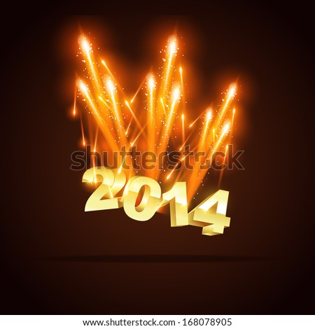 creative 2014 new year greeting - stock vector