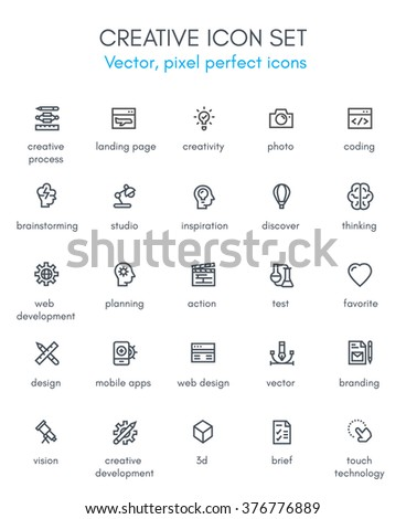 Creative package line icon set. Pixel perfect fully editable vector icon suitable for websites, info graphics and print media. - stock vector