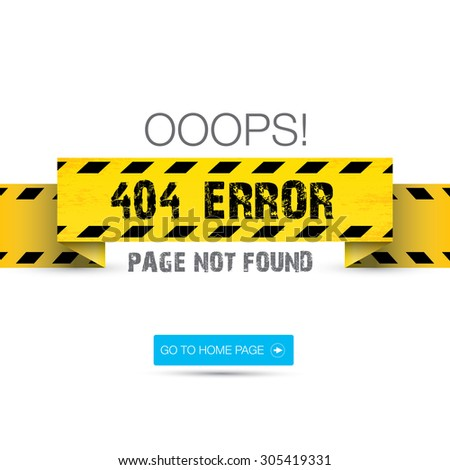 Creative page not found, 404 error design template