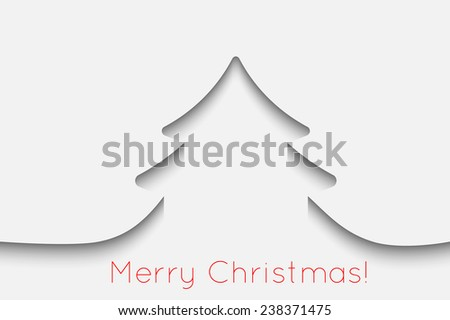 Creative paper Christmas tree background. Vector Illustration. - stock vector