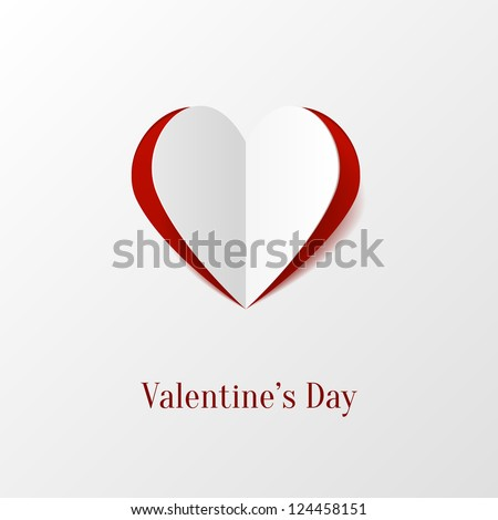 Creative paper heart - stock vector