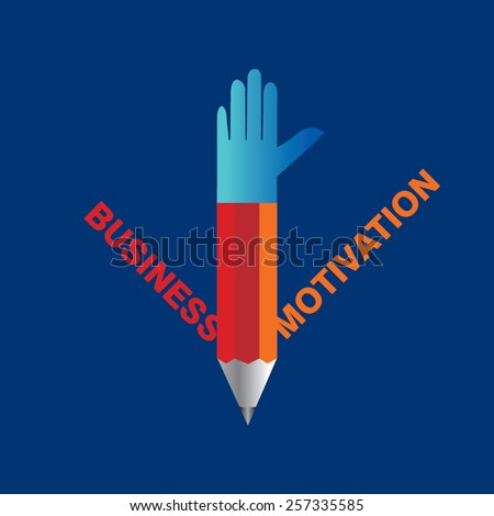creative pencil hands business and motivation, concept vector - stock vector