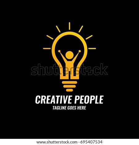 Creative People Logo Design Template Future Idea Stock Vector ...