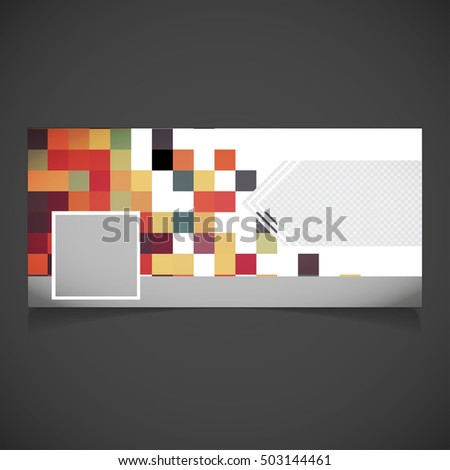 Creative Photography Banner Template Place Image Stock Vector ...