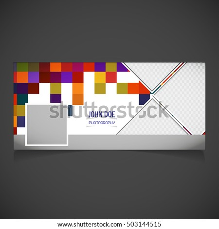 Creative Black Background Photography Banner Template Stock Vector ...