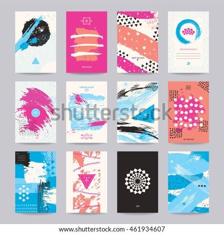 Creative poster art flyer colorful modern stock vector 461934607 creative poster art flyer colorful modern invitation birthday and wedding card web stopboris Gallery