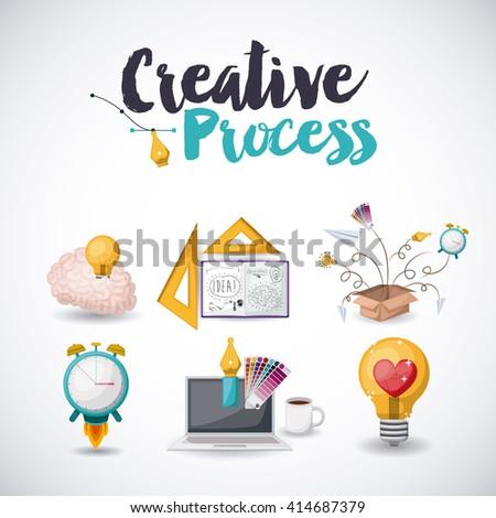 creative process  design  - stock vector