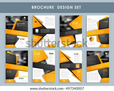 Creative Professional Brochure Set Template Flyer Stock Vector ...