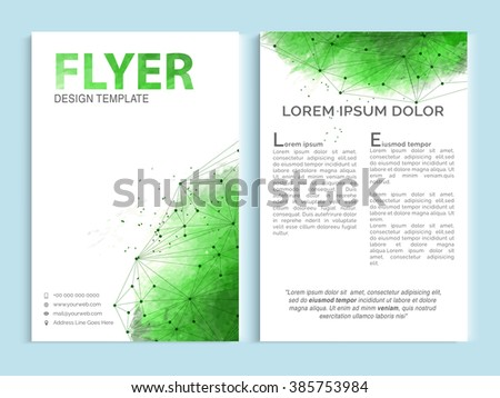 Creative Professional One Page Business Flyer Stock Vector 385753984 ...