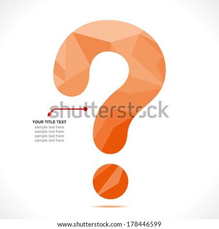 creative '?' question mark symbol design concept vector - stock vector