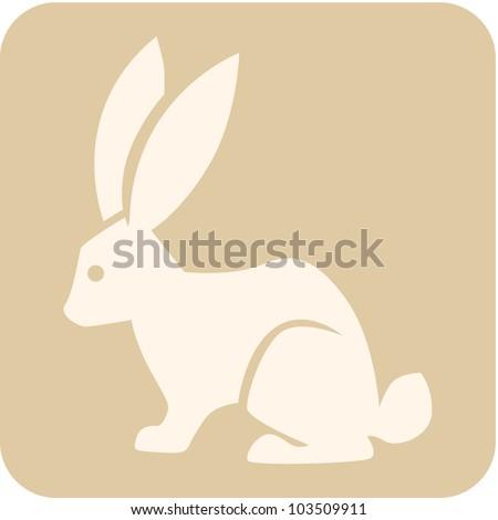 Creative Rabbit Icon - stock vector