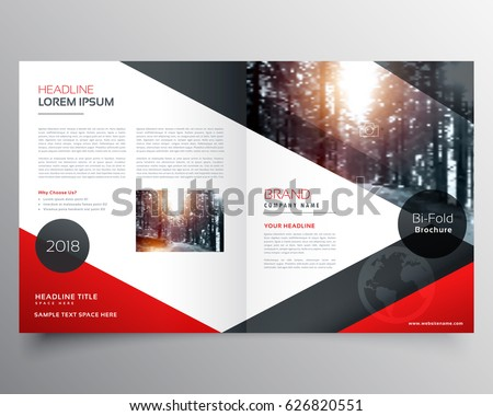 Exceptional Creative Red And Black Bifold Brochure Or Magazine Cover Page Design  Template
