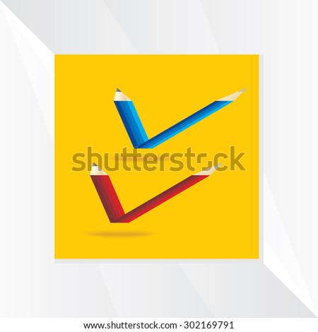 creative right mark symbol vector  - stock vector
