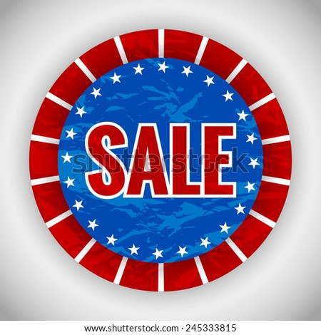 Creative sale badge for president day - stock vector