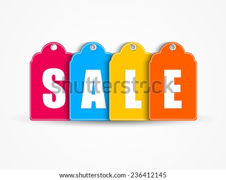 Creative sales price tags for sales offers - stock vector