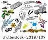 Creative set #19 - stock vector