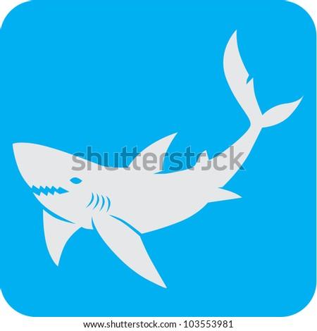 Creative Shark Icon - stock vector