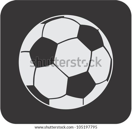 Creative Soccer Ball Icon - stock vector